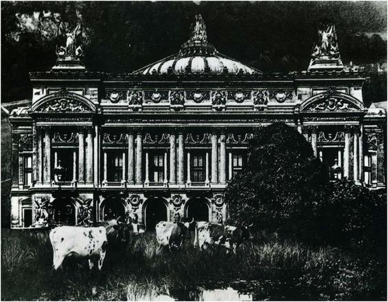 Opéra de Paris by René Magritte. Source: La Révolution Surréaliste no. 12, 1929, p. 46. Available at http://inventin.lautre.net/livres/La-revolution-surrealiste-12.pdf