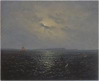 Moonlit night near the island of Rügen c.1819 by Carl Gustav Carus (1789-1869) Source: © Staatliche Kunstsammlungen Dresden; German, out of copyright. Available at: https://commons.wikimedia.org/wiki/File:Carl_Gustav_Carus_-_Mondnacht_bei_R%C3%BCgen.jpg